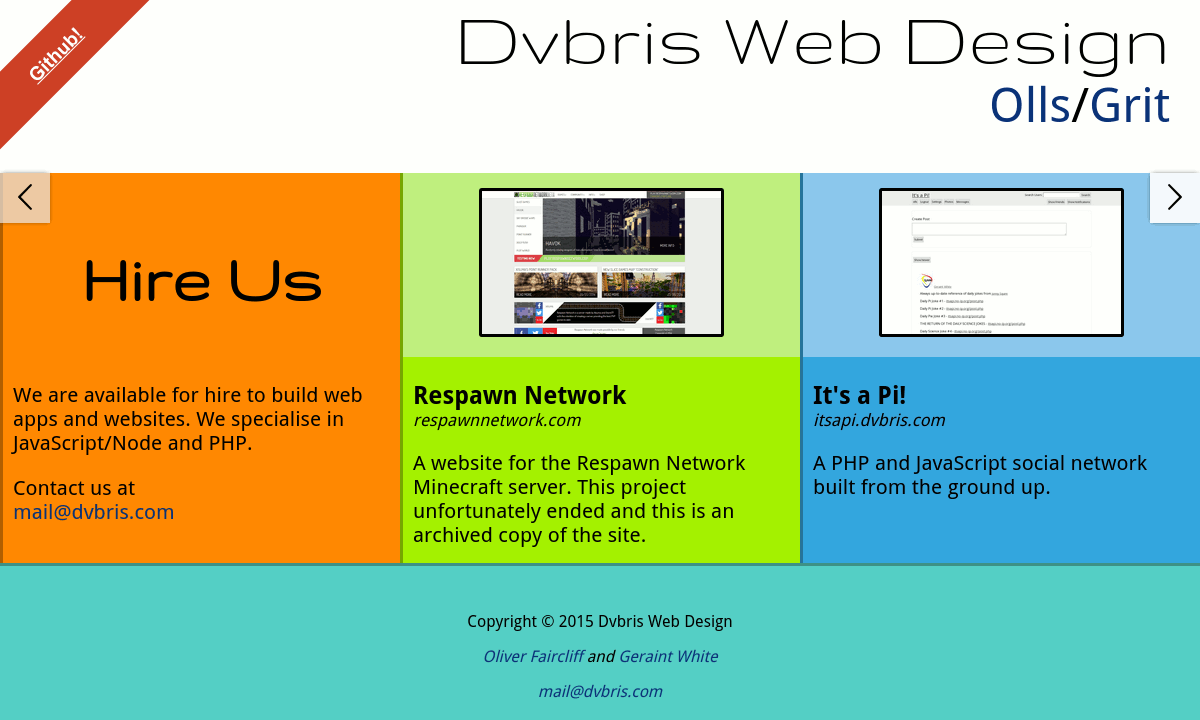 Screenshot of dvbris.com